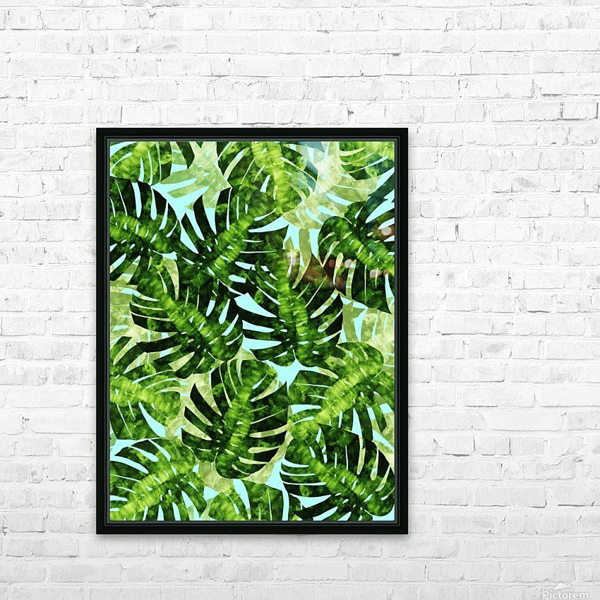 Watercolor leaves tropical I HD Sublimation Metal print with Decorating Float Frame (BOX)