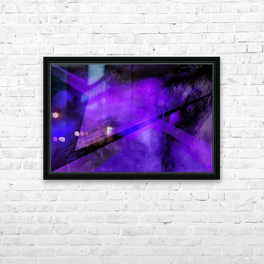 Geometric Abstract B HD Sublimation Metal print with Decorating Float Frame (BOX)