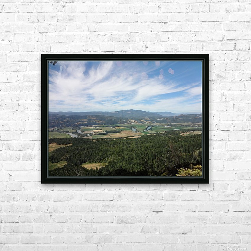Beautiful British Columbia HD Sublimation Metal print with Decorating Float Frame (BOX)