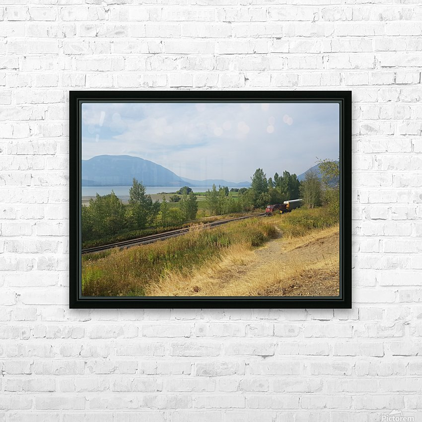 Smoky Mountains HD Sublimation Metal print with Decorating Float Frame (BOX)
