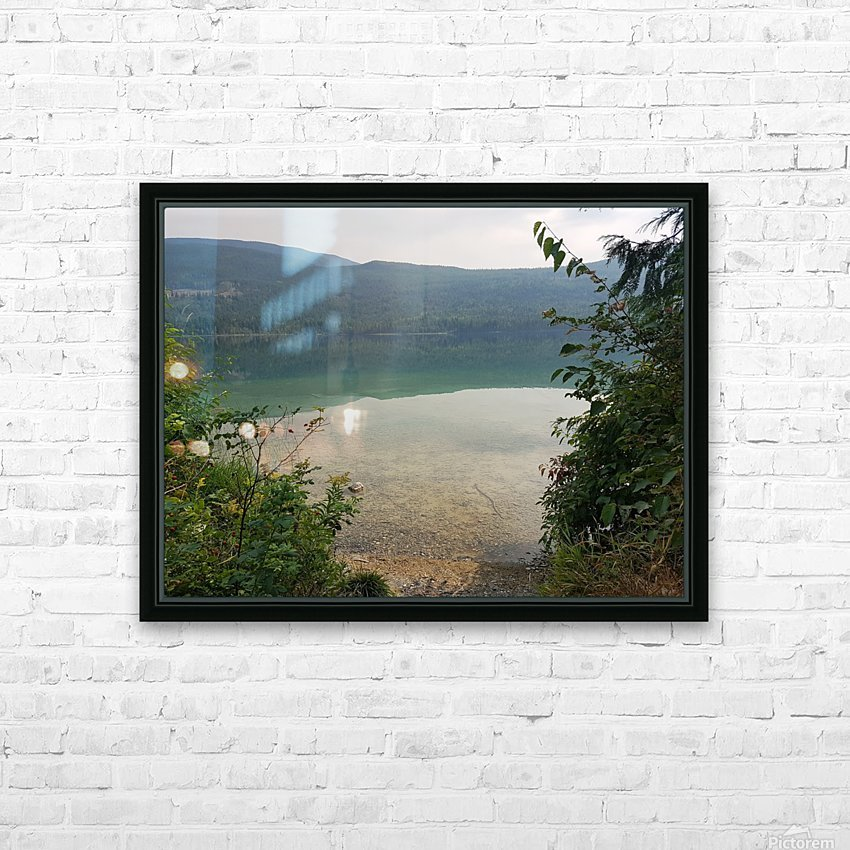 Crystal Clear White Lake HD Sublimation Metal print with Decorating Float Frame (BOX)