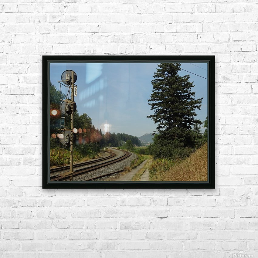 Riding The Rails HD Sublimation Metal print with Decorating Float Frame (BOX)