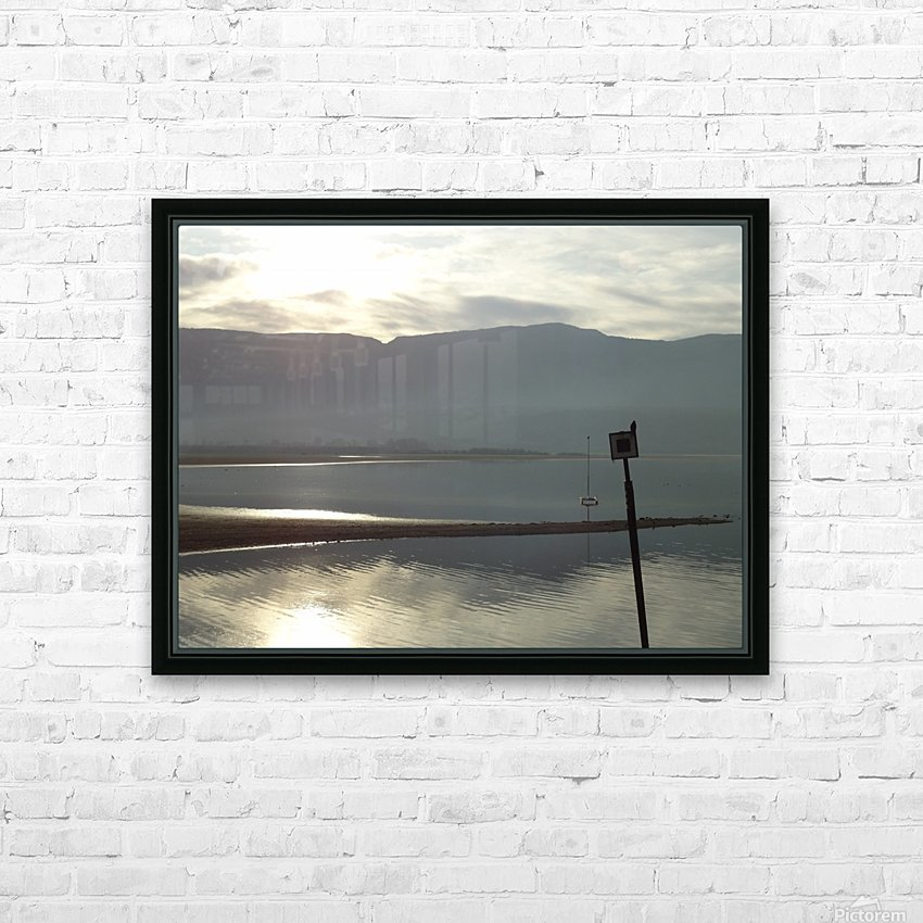 Smoky Sunsets Over The Mountains HD Sublimation Metal print with Decorating Float Frame (BOX)