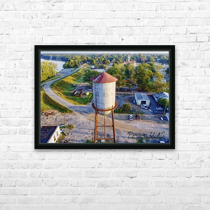 Clarendon, AR | Water Tower HD Sublimation Metal print with Decorating Float Frame (BOX)