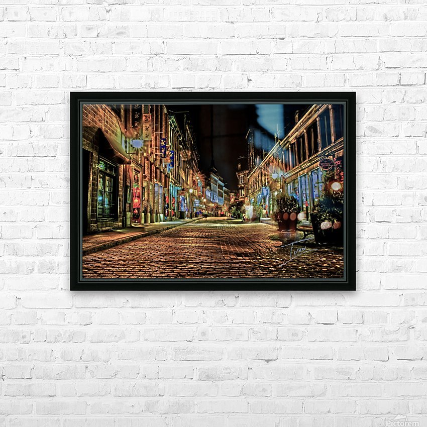 Rue St Paul HD Sublimation Metal print with Decorating Float Frame (BOX)