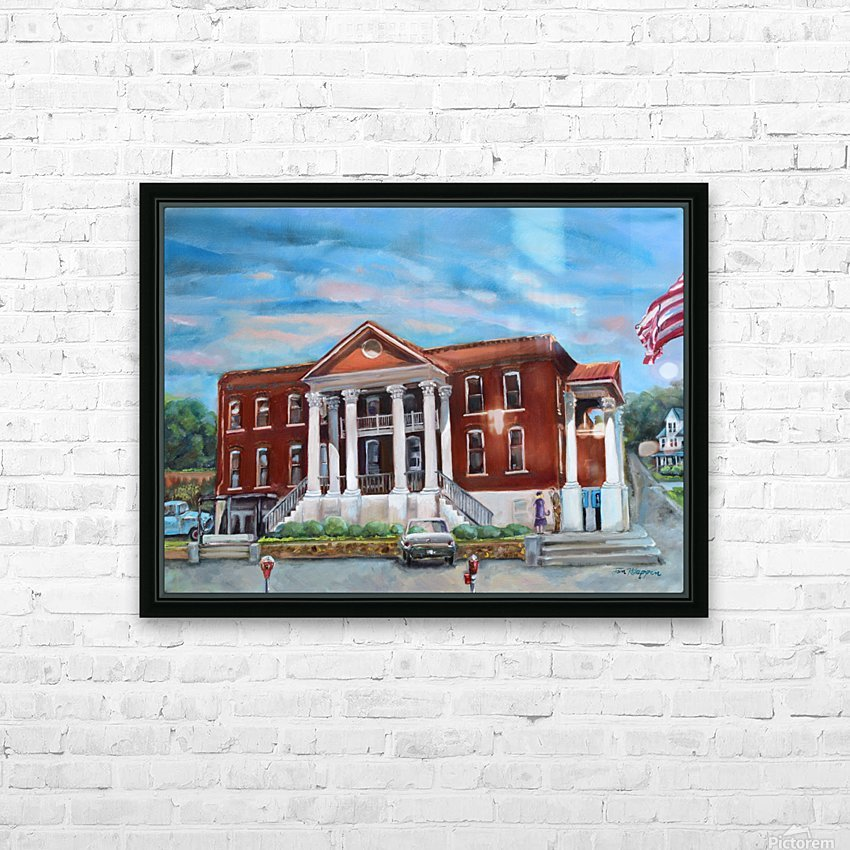 Old Courthouse Vivid HD Sublimation Metal print with Decorating Float Frame (BOX)