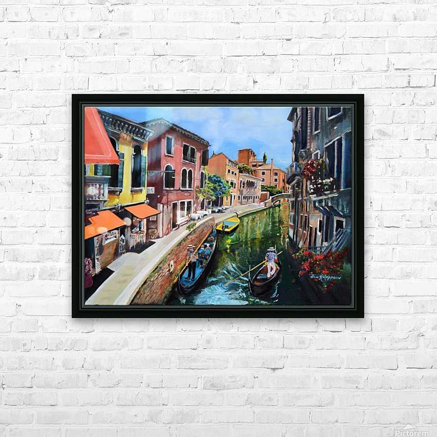 Venice in Summer Vivid HD Sublimation Metal print with Decorating Float Frame (BOX)