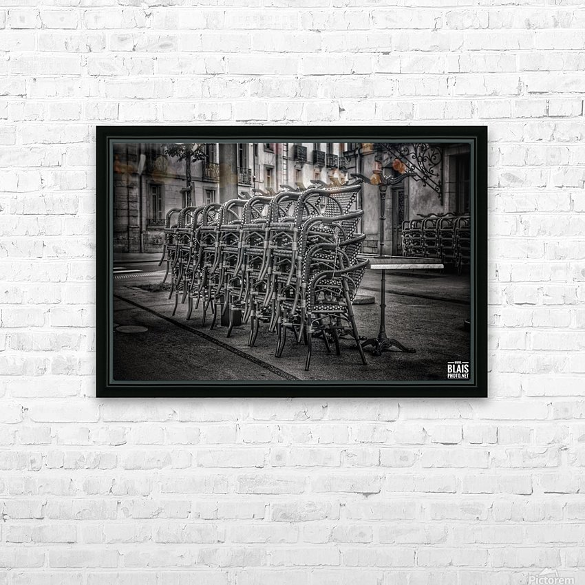 French Bistro HD Sublimation Metal print with Decorating Float Frame (BOX)