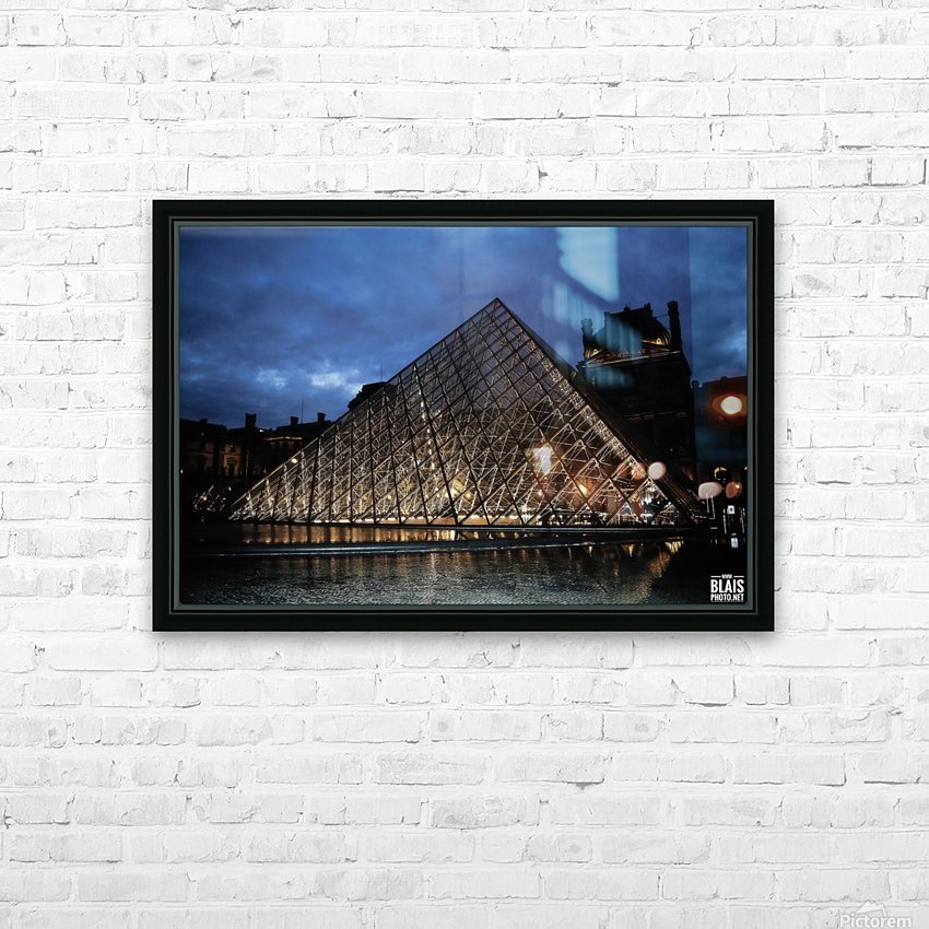Le Louvre Pyramid HD Sublimation Metal print with Decorating Float Frame (BOX)