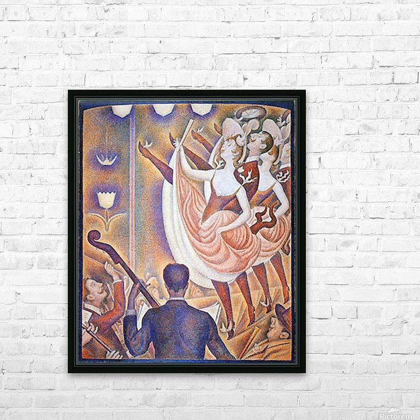 The big show by Seurat HD Sublimation Metal print with Decorating Float Frame (BOX)