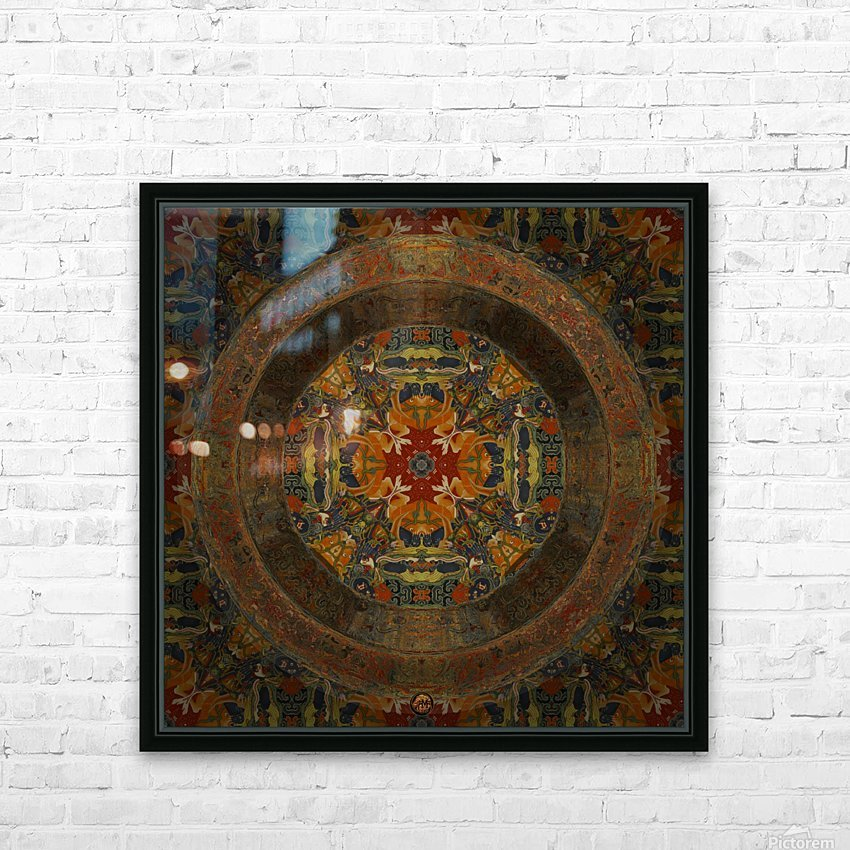 Tibetan Window HD Sublimation Metal print with Decorating Float Frame (BOX)