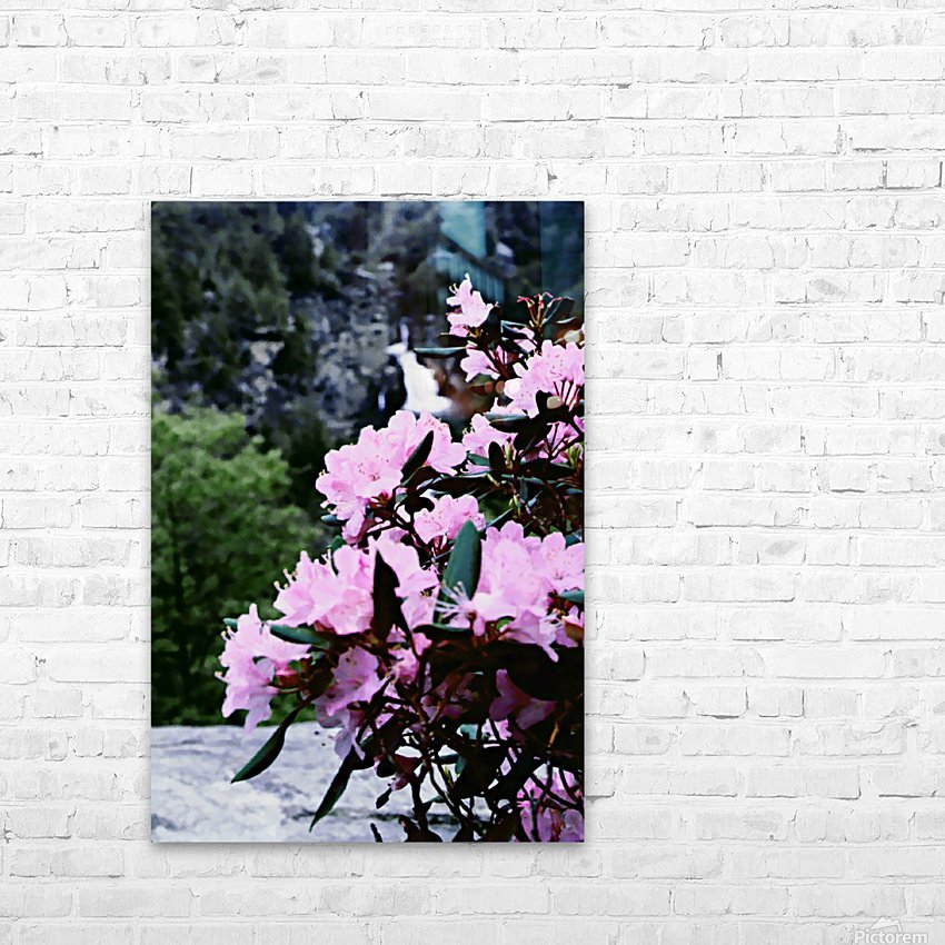 Flowers and Falls HD Sublimation Metal print with Decorating Float Frame (BOX)