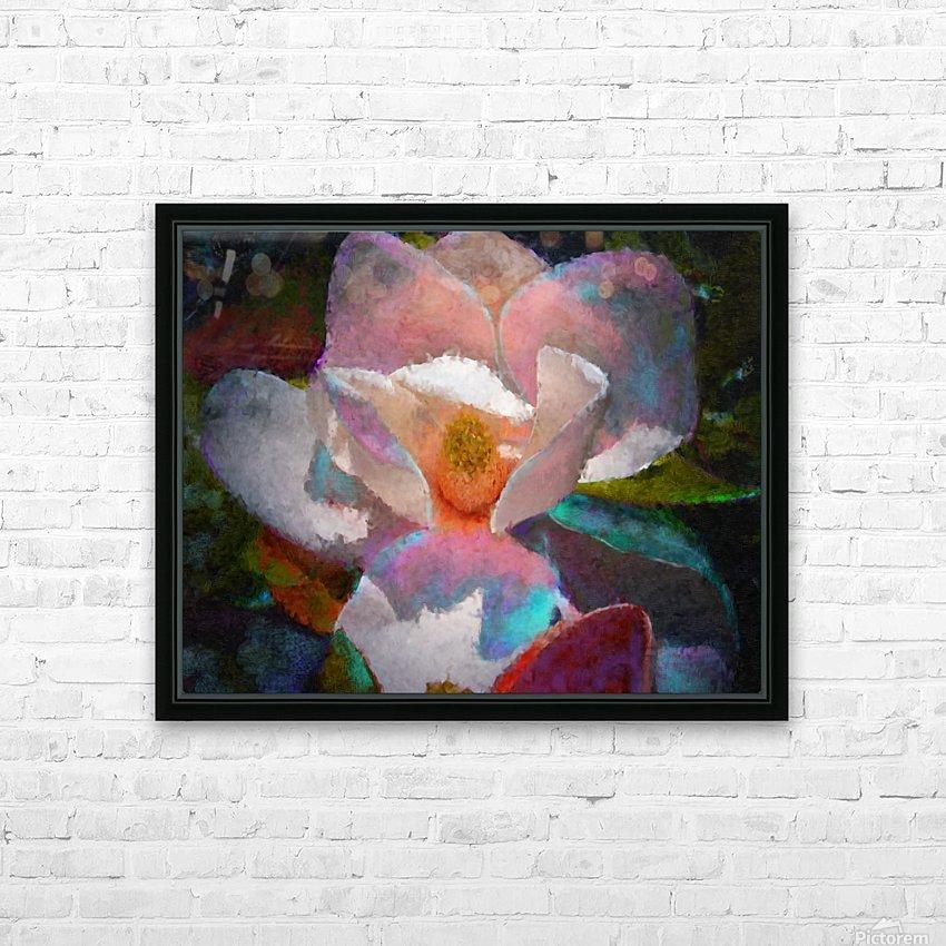 Magnolia Grandiflora Impression HD Sublimation Metal print with Decorating Float Frame (BOX)