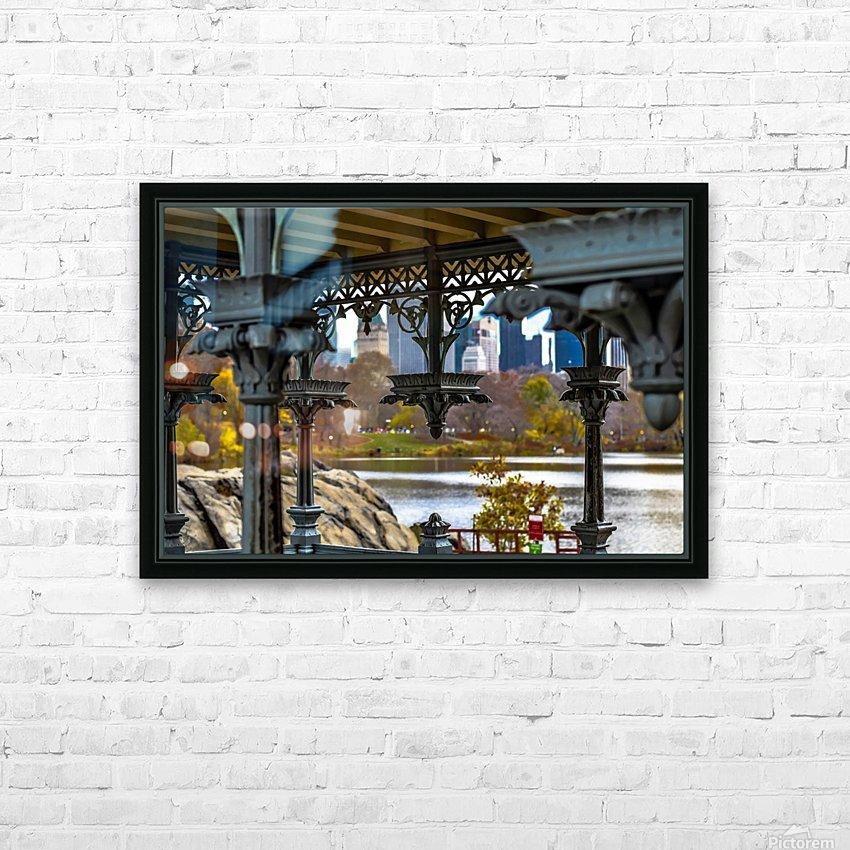 Inside Gazebo Central Park  HD Sublimation Metal print with Decorating Float Frame (BOX)