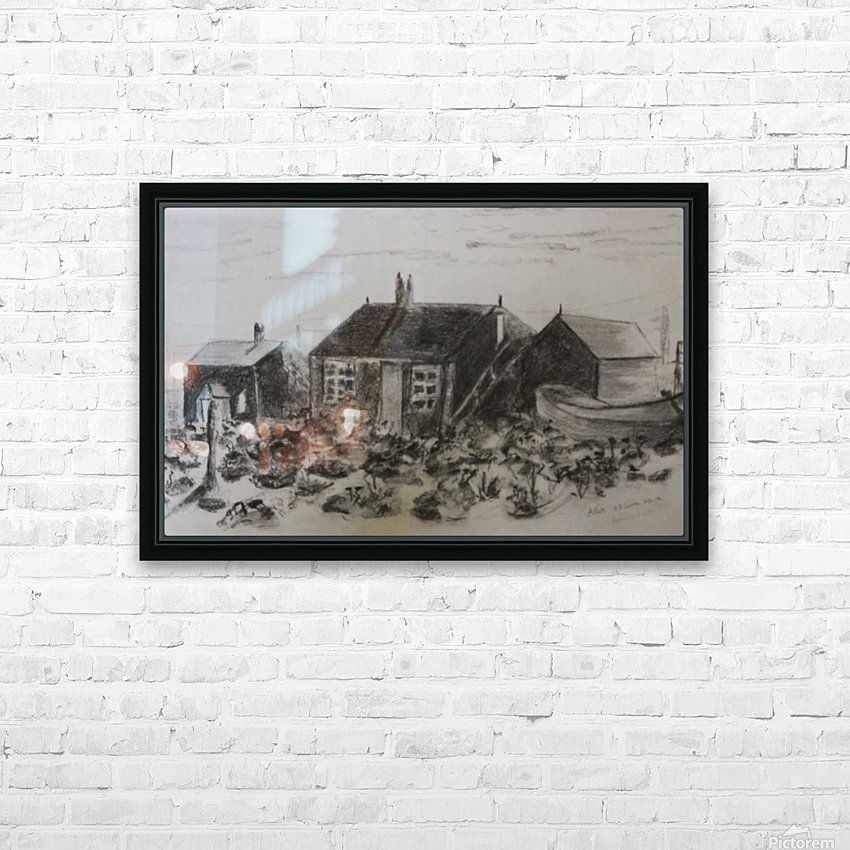 Romney Marsh  HD Sublimation Metal print with Decorating Float Frame (BOX)