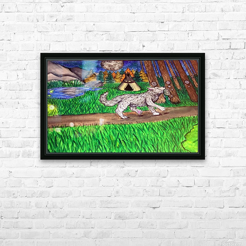 ProudWolf HD Sublimation Metal print with Decorating Float Frame (BOX)