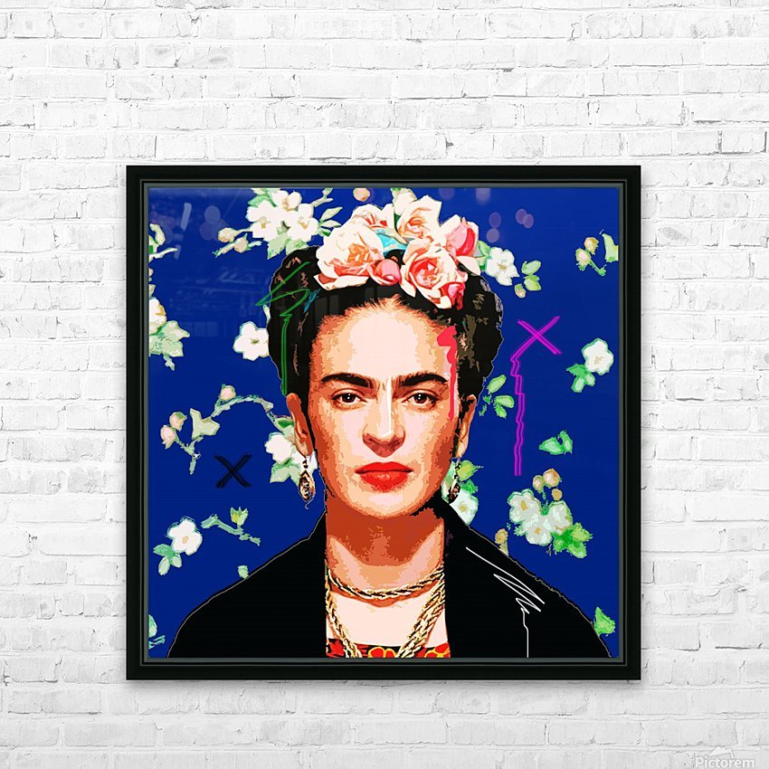 Frida X HD Sublimation Metal print with Decorating Float Frame (BOX)