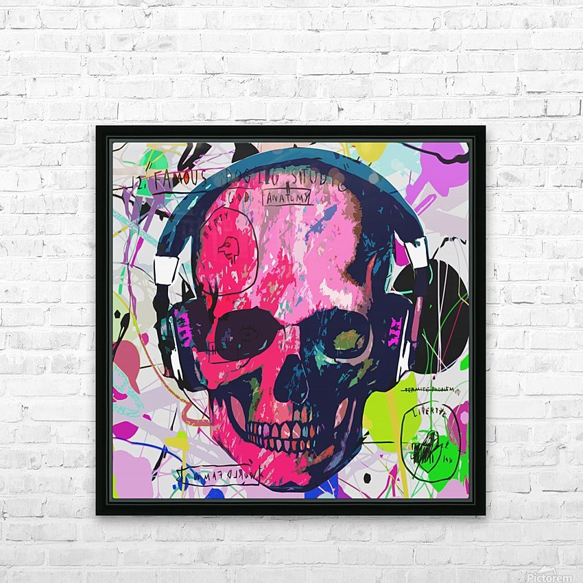 Music Anatomy HD Sublimation Metal print with Decorating Float Frame (BOX)