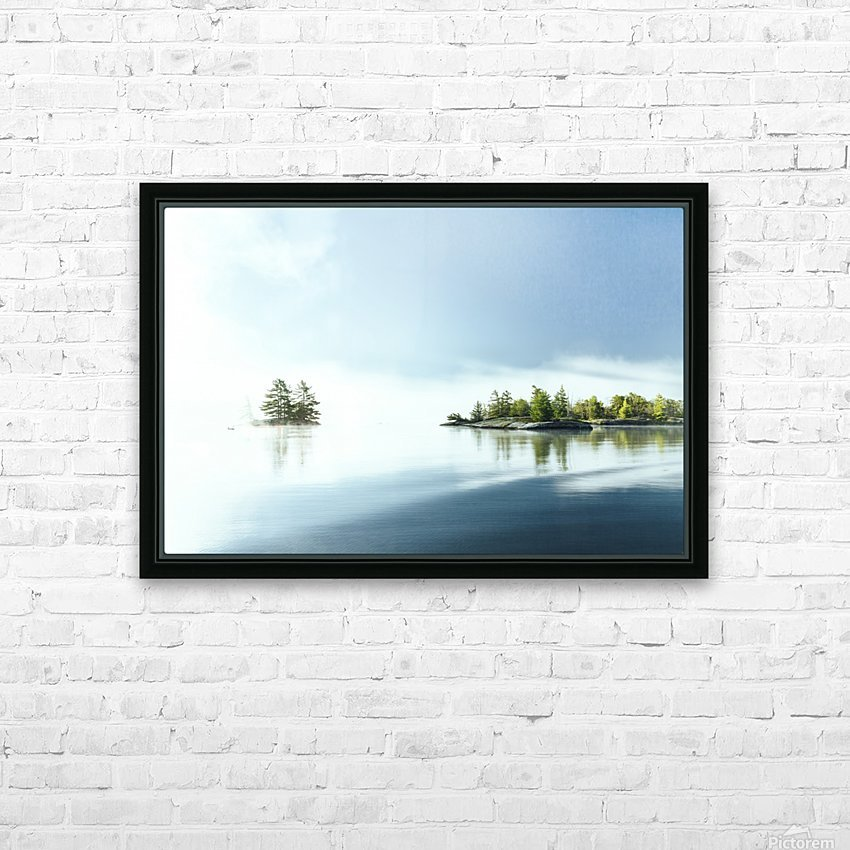 Blue water HD Sublimation Metal print with Decorating Float Frame (BOX)