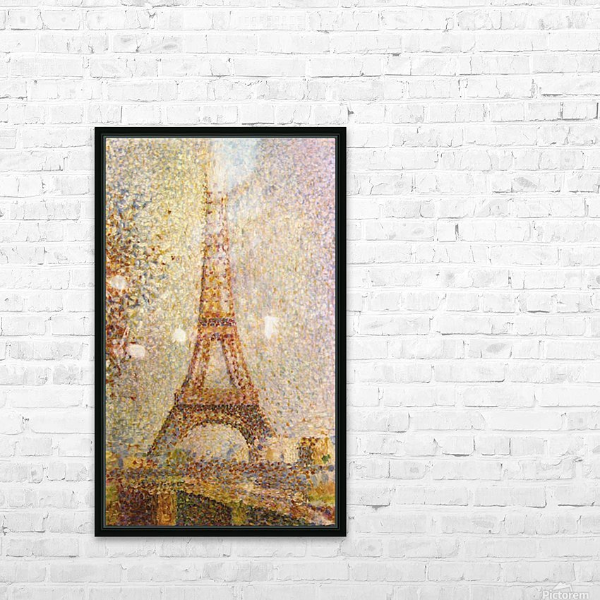 The Eiffel Tower by Seurat HD Sublimation Metal print with Decorating Float Frame (BOX)