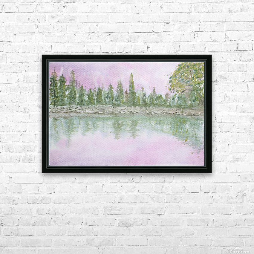 Pine reflections. HD Sublimation Metal print with Decorating Float Frame (BOX)