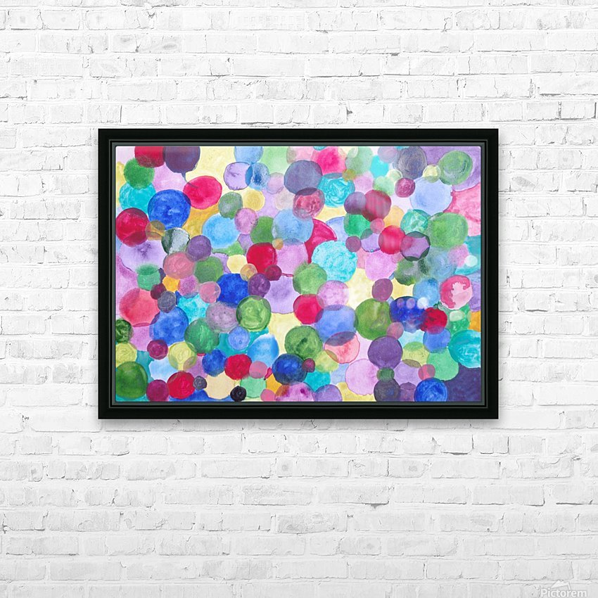 Colored Balls. HD Sublimation Metal print with Decorating Float Frame (BOX)