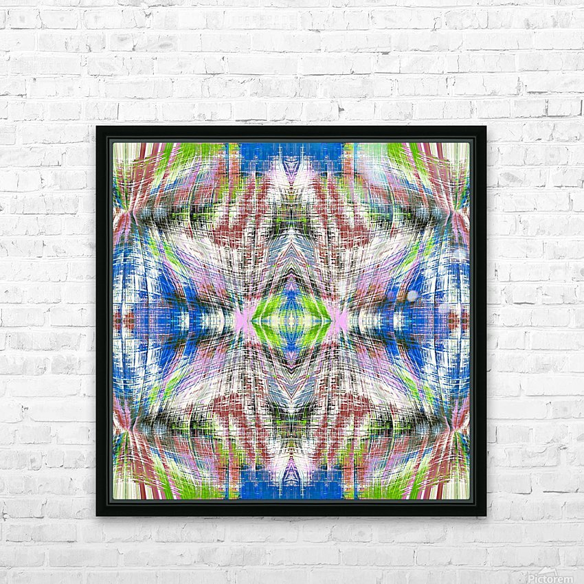 geometric symmetry pattern abstract background in pink blue green brown HD Sublimation Metal print with Decorating Float Frame (BOX)
