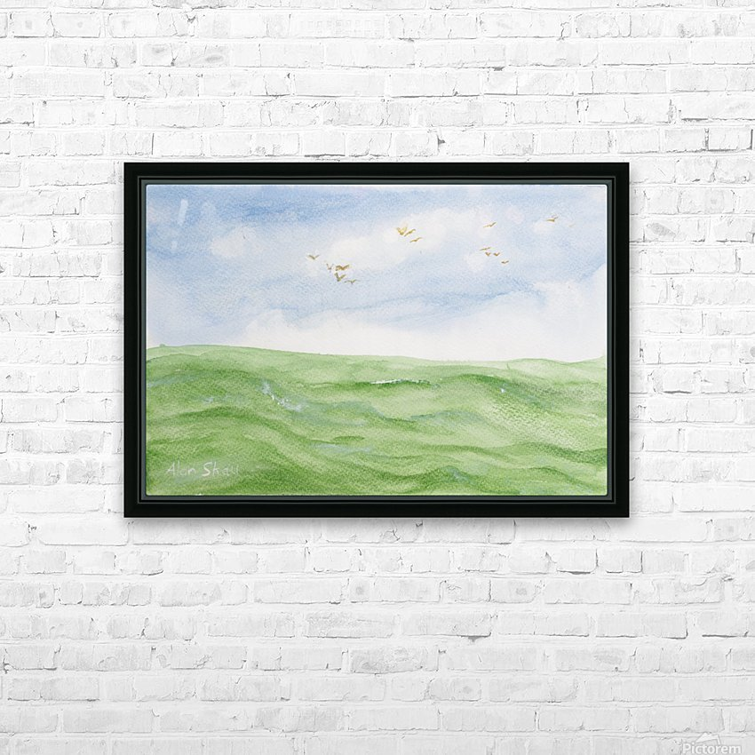 Birds over the ocean. HD Sublimation Metal print with Decorating Float Frame (BOX)