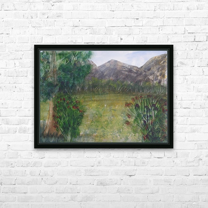 Distant Mountains. HD Sublimation Metal print with Decorating Float Frame (BOX)