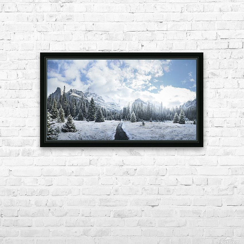 Mountain World HD Sublimation Metal print with Decorating Float Frame (BOX)