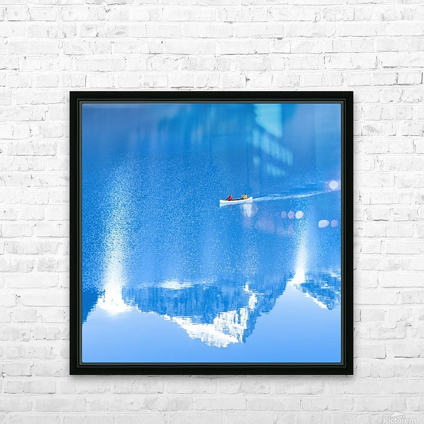 Icy blue  HD Sublimation Metal print with Decorating Float Frame (BOX)