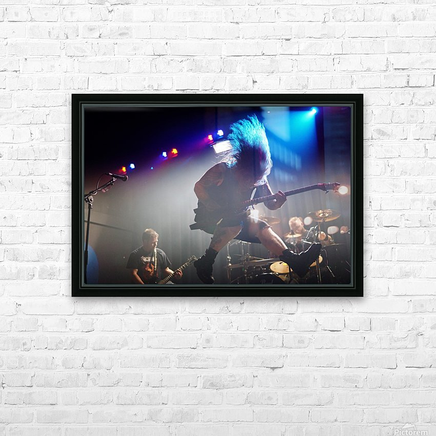 Jumping hair rock HD Sublimation Metal print with Decorating Float Frame (BOX)