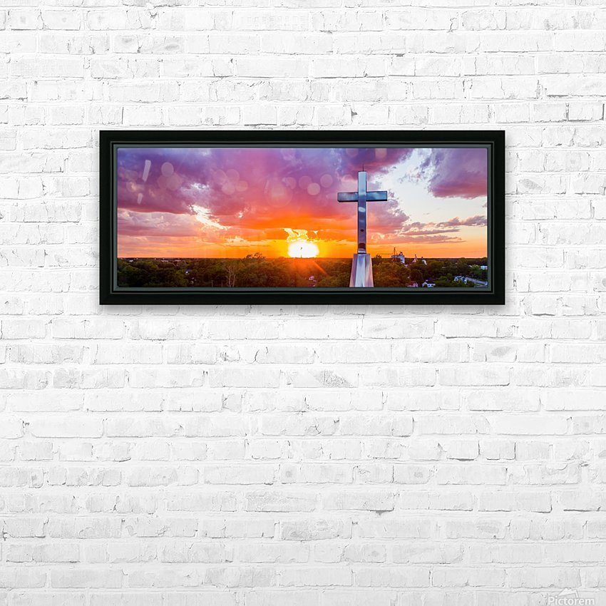 Rushville, IL Presbyterian Church Cross at Sunset II HD Sublimation Metal print with Decorating Float Frame (BOX)