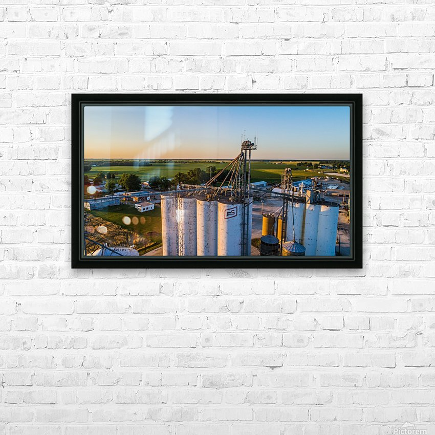 Schuyler County, IL FS Towers HD Sublimation Metal print with Decorating Float Frame (BOX)