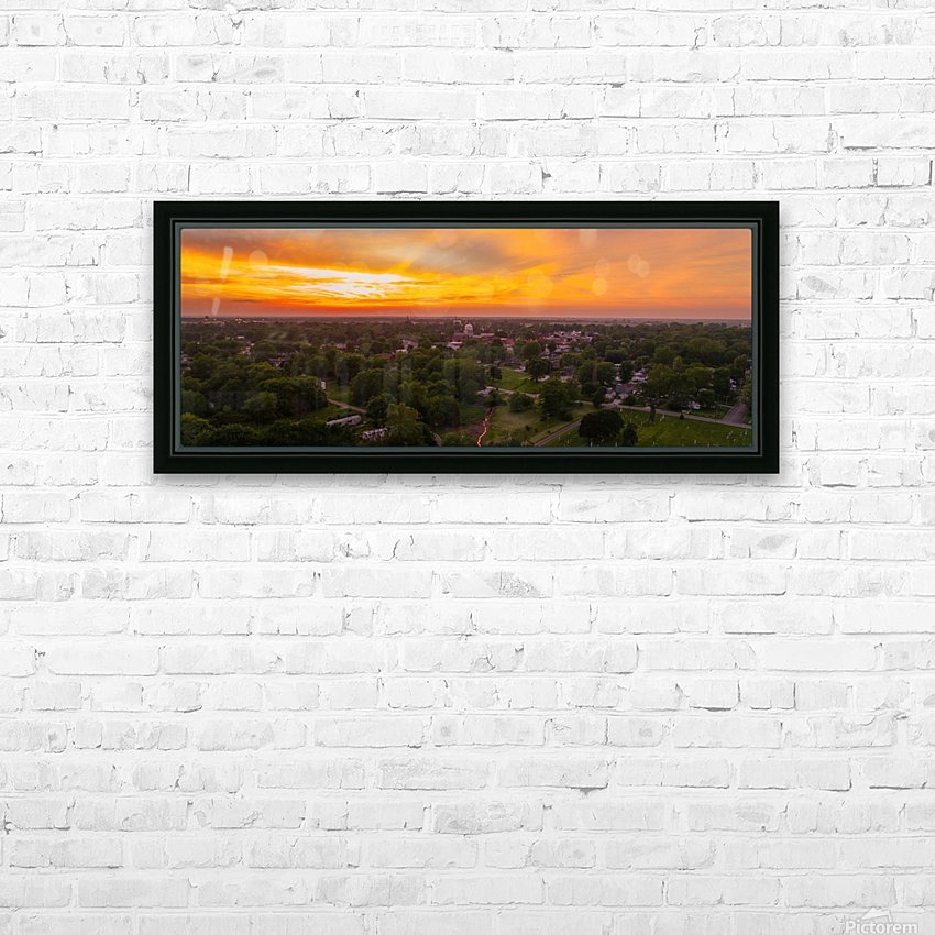 Rushville, IL Sunset HD Sublimation Metal print with Decorating Float Frame (BOX)