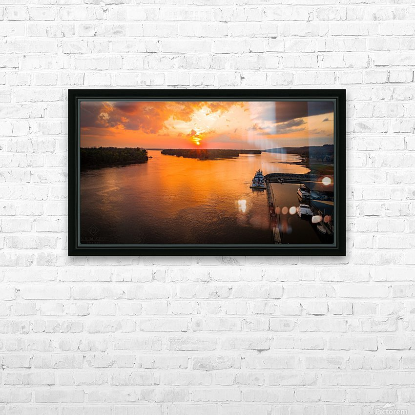 Grafton, IL River Sunset HD Sublimation Metal print with Decorating Float Frame (BOX)