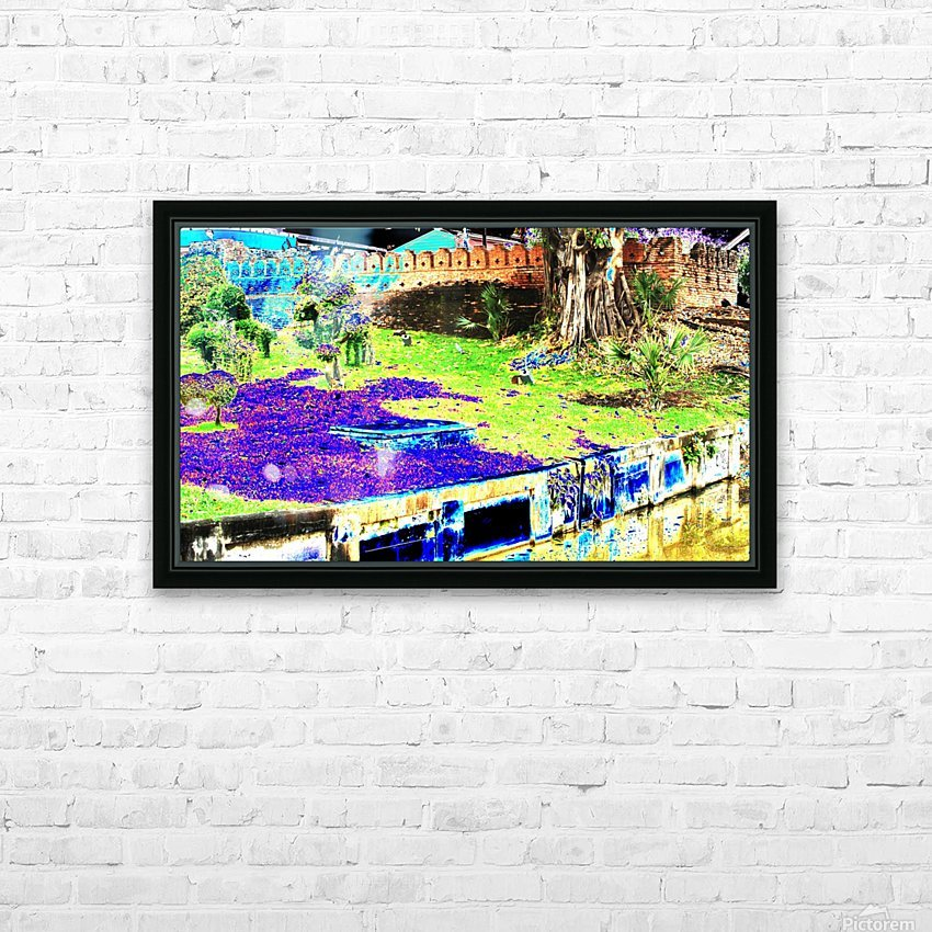 Old City Wall landscape. HD Sublimation Metal print with Decorating Float Frame (BOX)