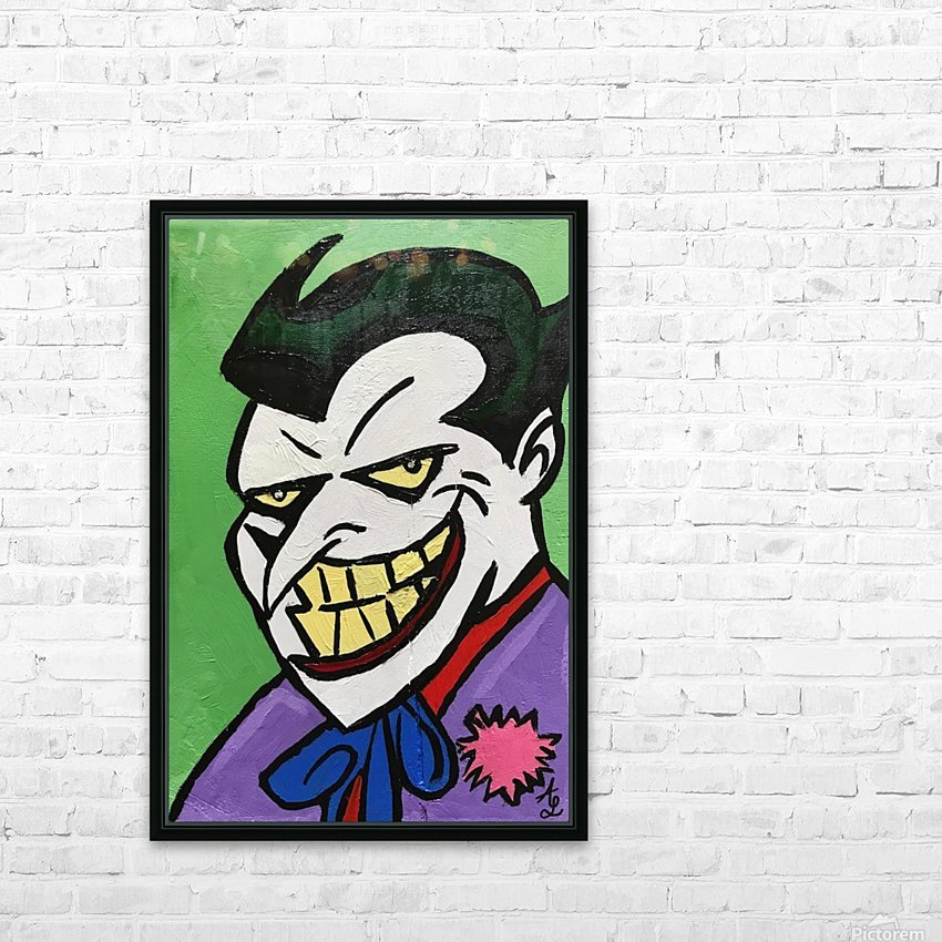 Joker HD Sublimation Metal print with Decorating Float Frame (BOX)