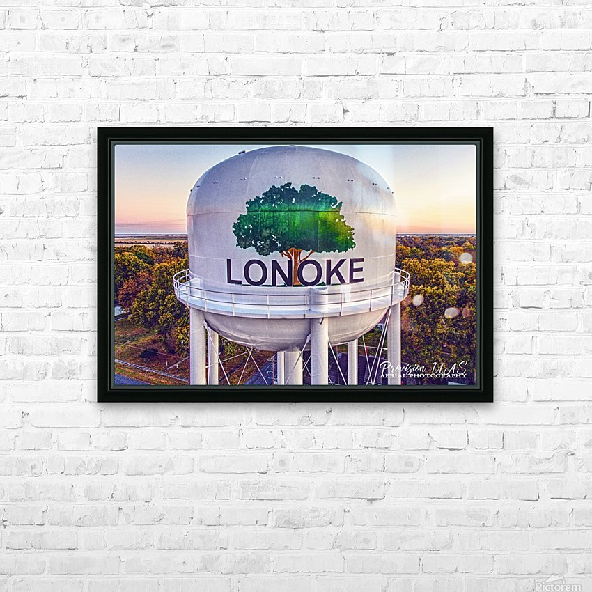 Lonoke AR | Painted Water Tower 2017 HD Sublimation Metal print with Decorating Float Frame (BOX)