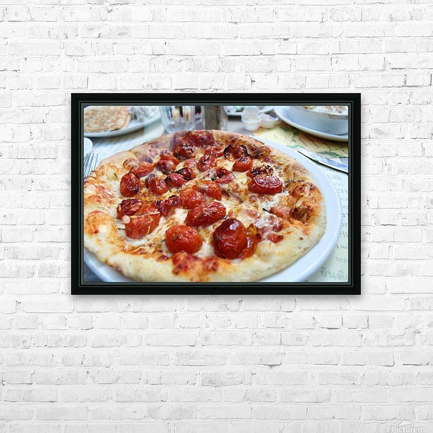 Pizza dans le Jardin de Nelson HD Sublimation Metal print with Decorating Float Frame (BOX)