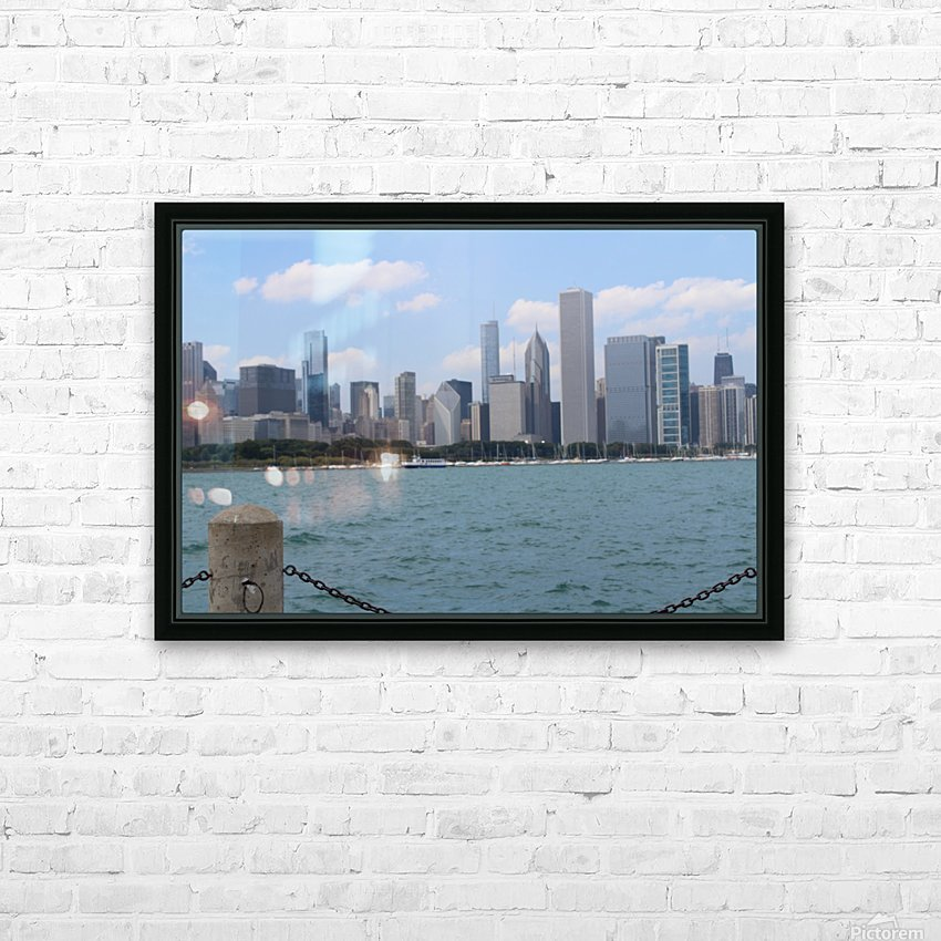 Chicago from the other side HD Sublimation Metal print with Decorating Float Frame (BOX)