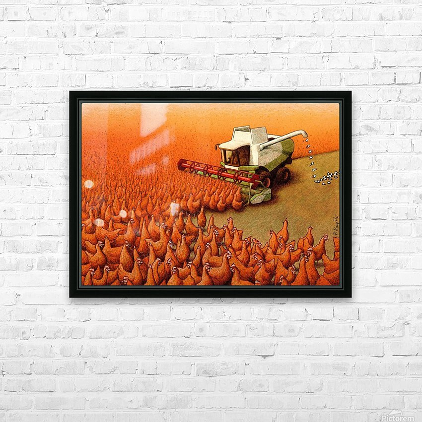 Eggs HD Sublimation Metal print with Decorating Float Frame (BOX)