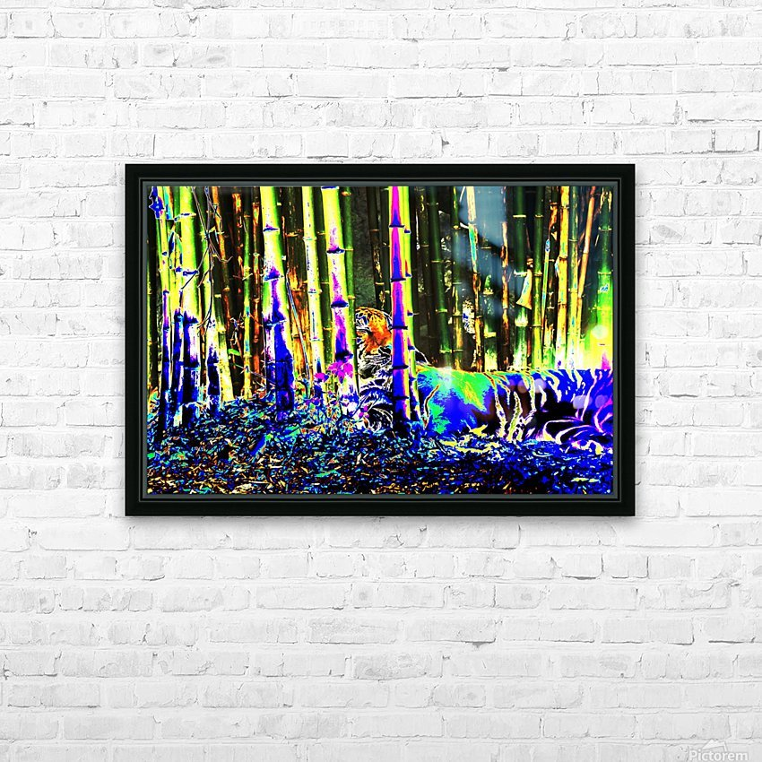 Tiger in a bamboo grove. HD Sublimation Metal print with Decorating Float Frame (BOX)