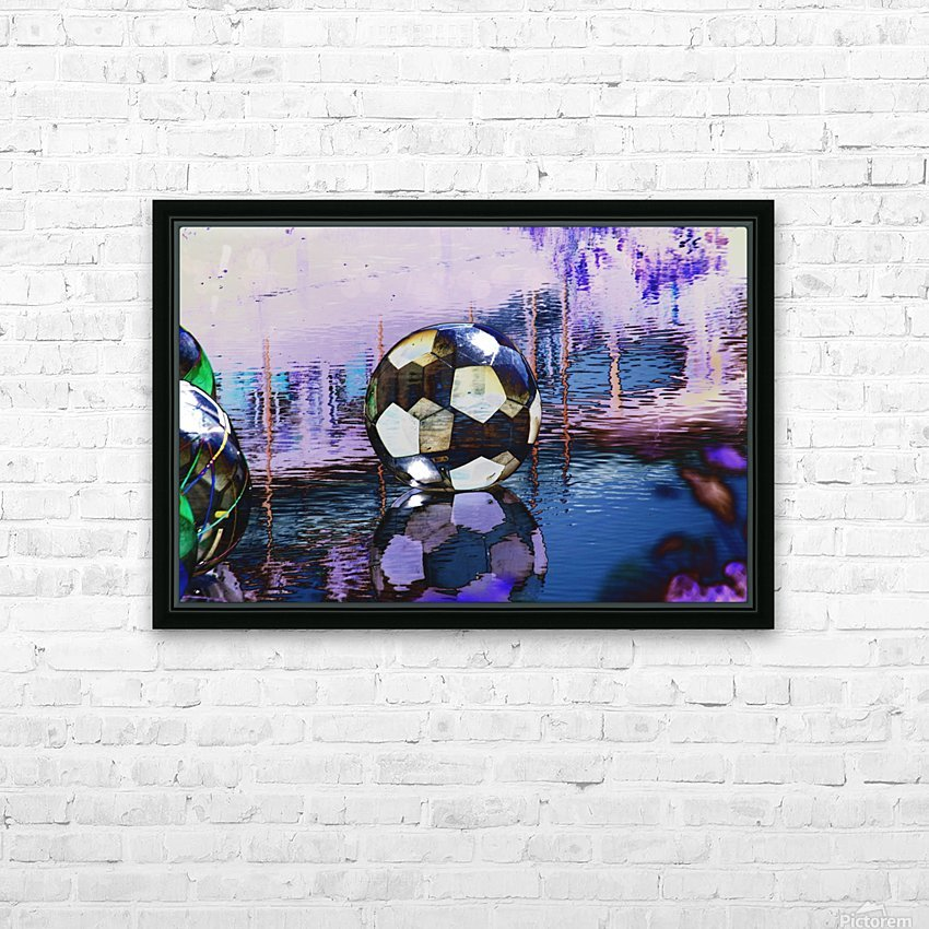 Large water ball. HD Sublimation Metal print with Decorating Float Frame (BOX)