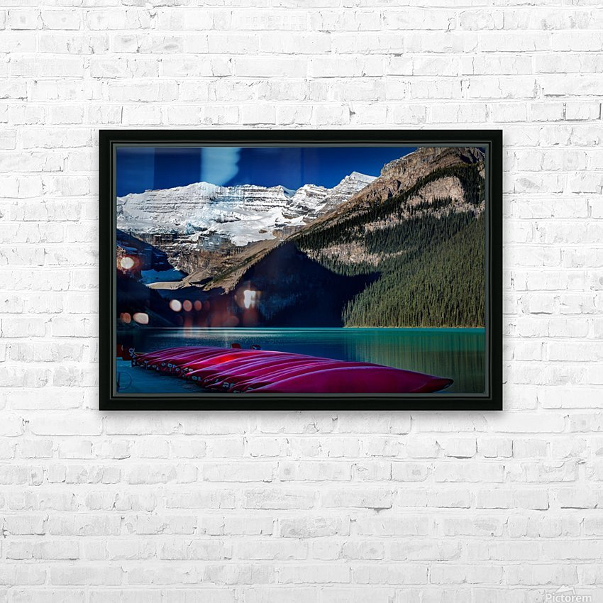 LakeLouiseCanoes HD Sublimation Metal print with Decorating Float Frame (BOX)