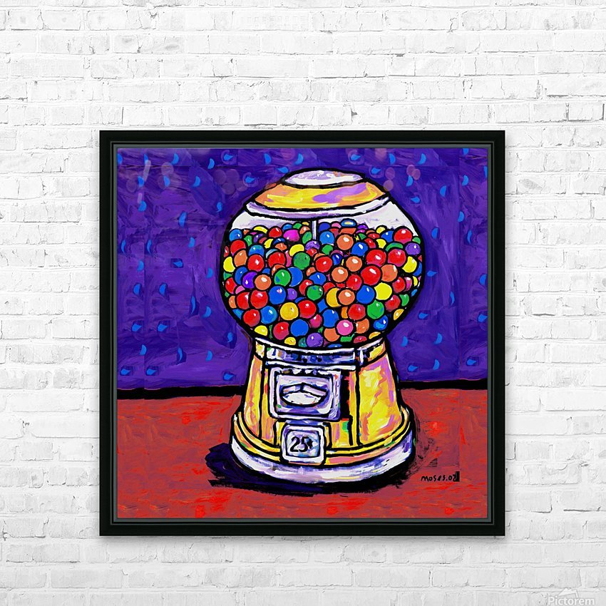 BUBBLE GUM MACHINE HD Sublimation Metal print with Decorating Float Frame (BOX)