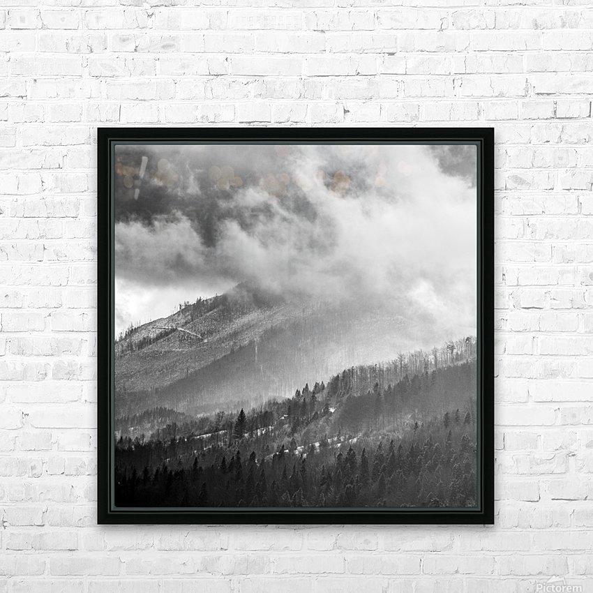 Winter Landscape V HD Sublimation Metal print with Decorating Float Frame (BOX)