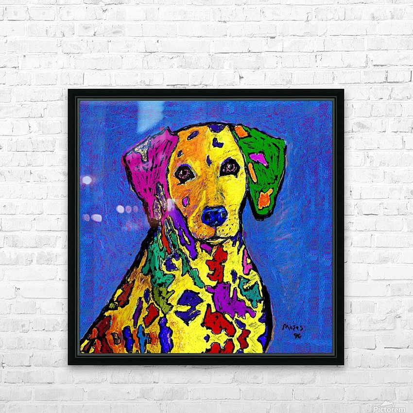 RAINBOW DALMATION  HD Sublimation Metal print with Decorating Float Frame (BOX)