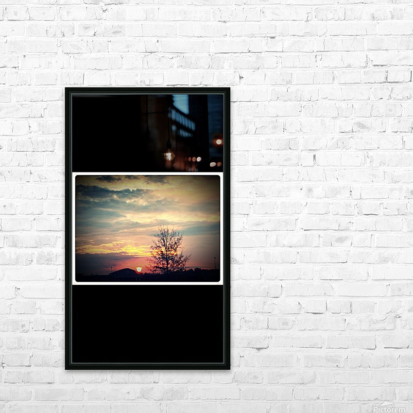 Sunset Above Walmart on December 2cd  HD Sublimation Metal print with Decorating Float Frame (BOX)