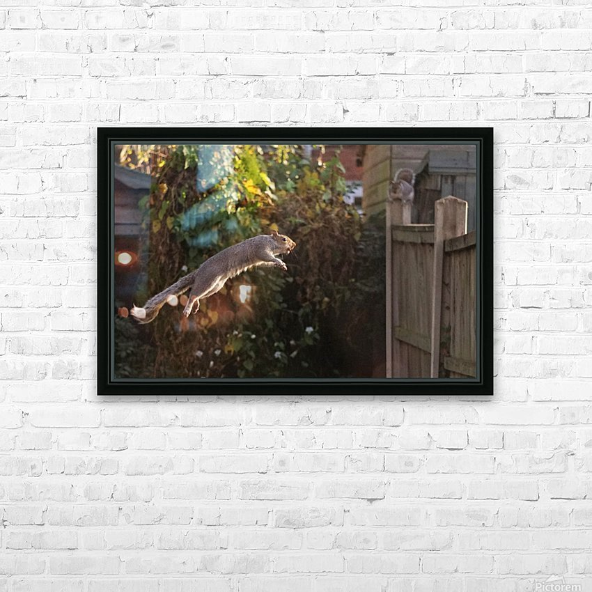 Jumping HD Sublimation Metal print with Decorating Float Frame (BOX)